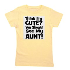 thinkimcute_aunt_black.png Girl's Tee