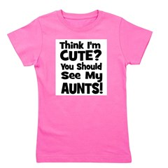 thinkimcute_aunts_black.png Girl's Tee