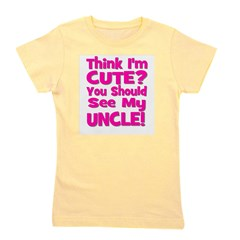 thinkimcute_uncle_pink.png Girl's Tee