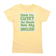 thinkimcute_uncles_green.png Girl's Tee