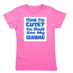 thinkimcute_grandma_blue.png Girl's Tee