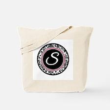 Letter S girly black monogram Tote Bag