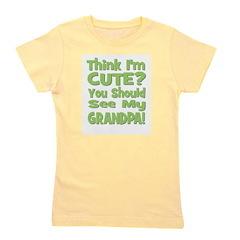 thinkimcute_grandpa_green.png Girl's Tee