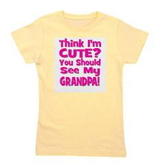 thinkimcute_grandpa_pink.png Girl's Tee