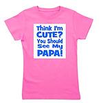 thinkimcute_papa_blue.png Girl's Tee
