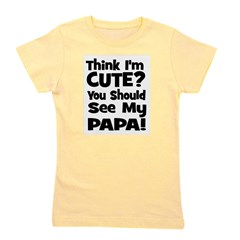 thinkimcute_papa_black.png Girl's Tee