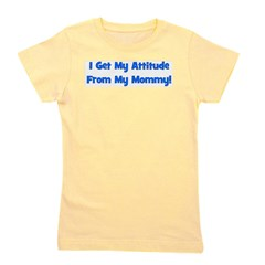 attitudefrommommy_blue.png Girl's Tee