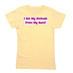 attitudefromaunt_pink.png Girl's Tee