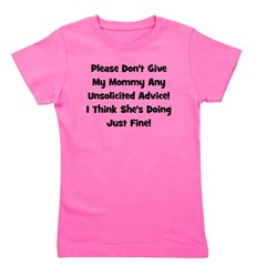 unsolicitedadvice_black_TR.png Girl's Tee