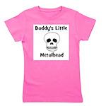 daddyslittlemetalhead_skull.png Girl's Tee