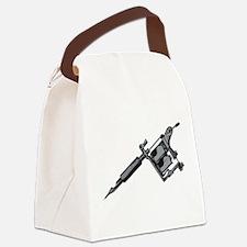 Tattoo Machine Canvas Lunch Bag