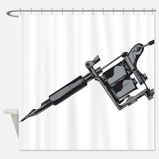 Tattoo Machine Shower Curtain