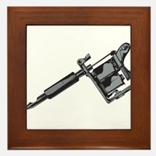 Tattoo Machine Framed Tile