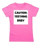 caution_teethingbaby.png Girl's Tee
