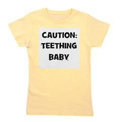 caution_teethingbaby.png Girl's Tee