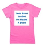 twosarentterrible_blue.png Girl's Tee