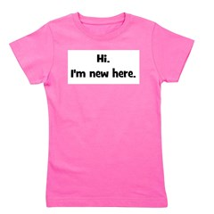 hi_imnewhere_black.png Girl's Tee