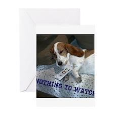 Lazy Dog Greeting Card