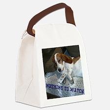 Lazy Dog Canvas Lunch Bag