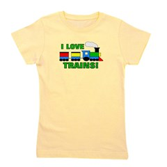 train_ilovetrains.png Girl's Tee