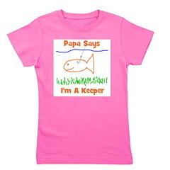 imakeeper_papasays.png Girl's Tee