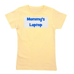 mommyslaptop_blue.png Girl's Tee