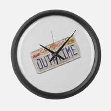 Outatime Back to the Future Large Wall Clock