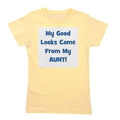 mygoodlookscomefrom_blue_aunt.jpg Girl's Tee