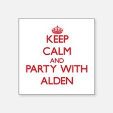 Keep Calm and Party with Alden Sticker