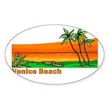 Venice Beach, California Oval Decal