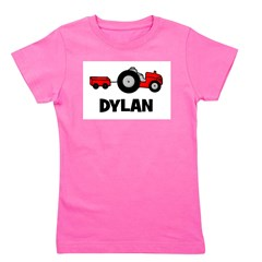 tractor_dylan.png Girl's Tee