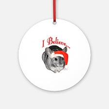 Chin I Believe (gray) Ornament (Round)