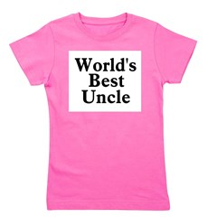 worldsbestuncle_black.png Girl's Tee