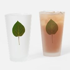 Green Aspen Leaf Drinking Glass