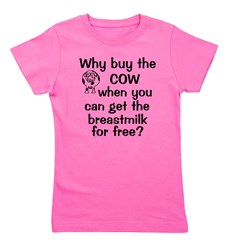 whybuythecow_breastmilkfree.png Girl's Tee