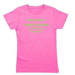pleasedonttouchmyhands_green_TR.png Girl's Tee