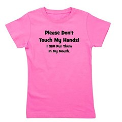 pleasedonttouchmyhands_black_TR.png Girl's Tee