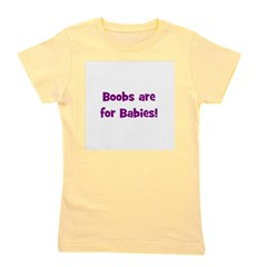 boobsareforbabies_redwwhitelittle.png Girl's Tee