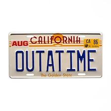 Outatime Back To The Future Aluminum License Plate
