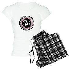 Letter W girly black monogram Pajamas