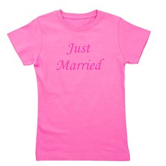3-justmarried_pink_TR.png Girl's Tee
