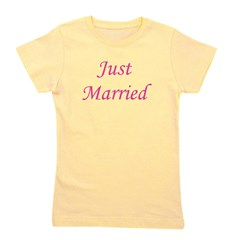 3-justmarried_pink_TR.png Girl's Tee