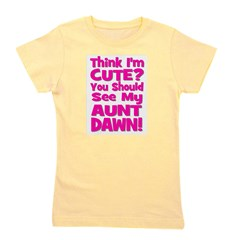 thinkimcute_aunt_pink_DAWN.png Girl's Tee