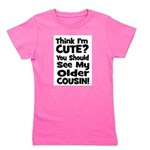 thinkimcute_oldercousin_black.png Girl's Tee