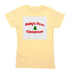 babysfirstchristmas_wtree.png Girl's Tee