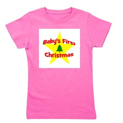 star_babysfirstchristmas.png Girl's Tee