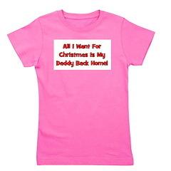 christmas_daddybackhome_black.png Girl's Tee