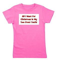 christmas_twofrontteeth_black.png Girl's Tee