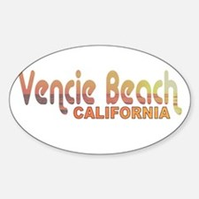 Venice Beach, California Oval Decal