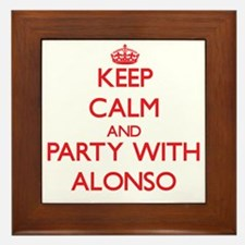 Keep Calm and Party with Alonso Framed Tile